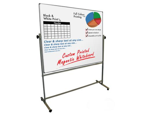 Custom Printed Mobile Revolving Magnetic W/Board 1-sided Print 1200x900 Landscape (+Sketch/Artwork)
