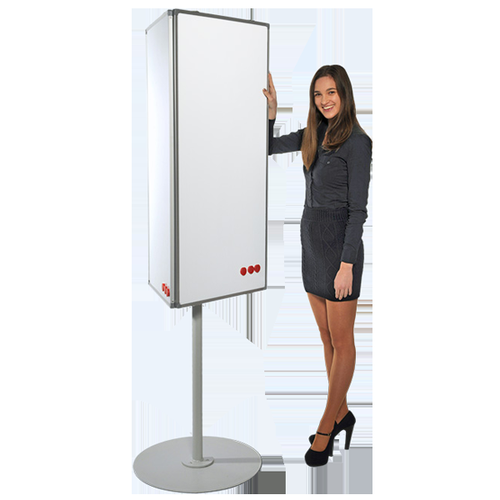 MIDI Rotating 3-Sided Magnetic Coated Steel Whiteboard on Stand 2m High (boards 560x1200) LPMCR001
