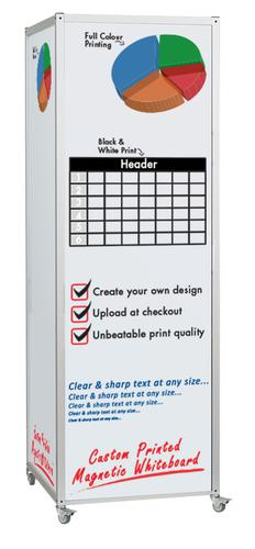 Custom Printed Mobile Magnetic Whiteboard 4-sided Cube (Sketch or Artwork Required)