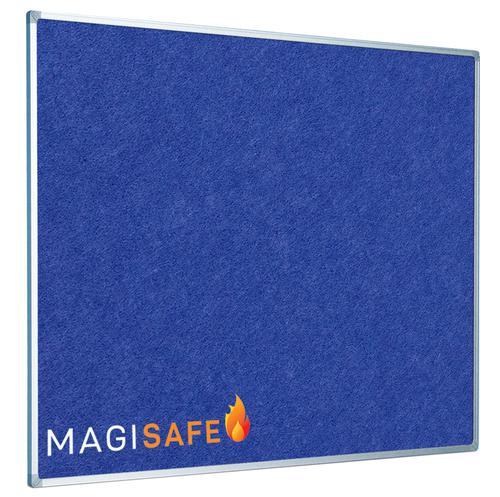EcoSAFE FRB Flame Retardent Notice Board 900x600 Aluminium Framed Blue LPNX1A02FRBLU