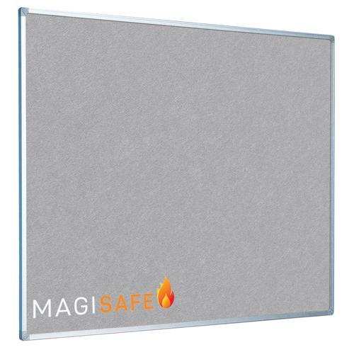 EcoSAFE FRB Flame Retardent Notice Board 900x600 Aluminium Framed Grey LPNX1A02FRGRY