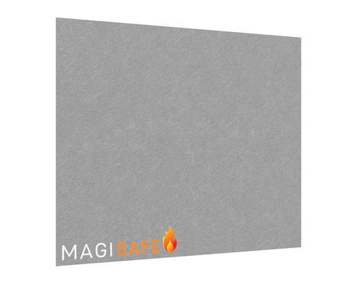 EcoSAFE FRB Flame Retardent Notice Board 1500x1200 Unframed Grey LPNX1U06FRGRY