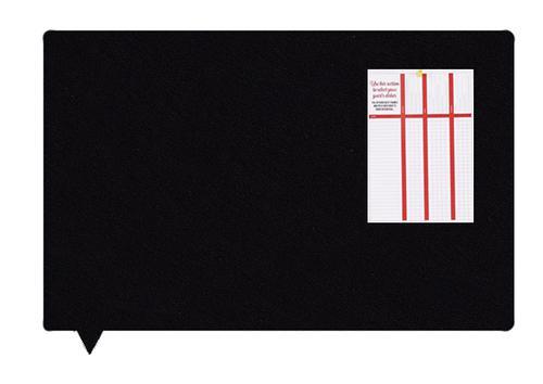 MagiShape Speech Bubble ECO Notice Board 1000x800mm Black LPNXBUB100BLA
