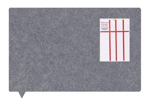 MagiShape Speech bubble board 100x80cm Dark Grey