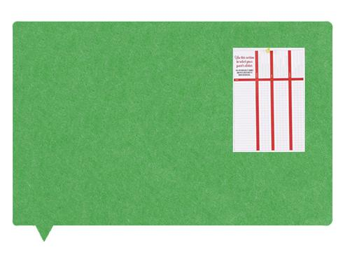 MagiShape Speech Bubble ECO Notice Board 1000x800mm Green LPNXBUB100GRE
