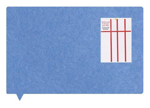 MagiShape Speech bubble board 100x80cm Light Blue