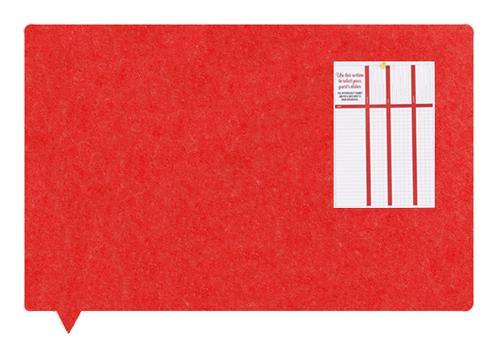 MagiShape Speech bubble board 100x80cm Red