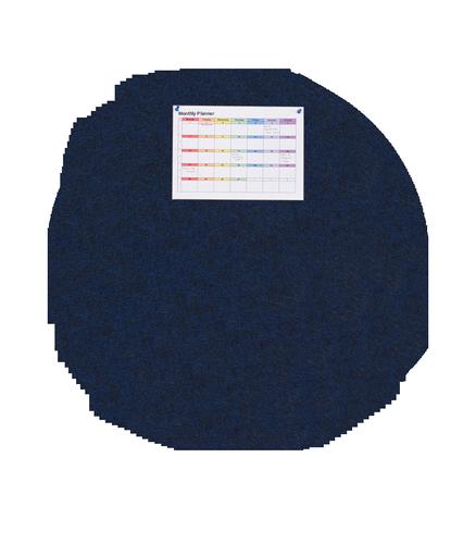 MagiShape 1200 x 1200mm Circle Notice Board Dark Blue LPNXCIR120DBL