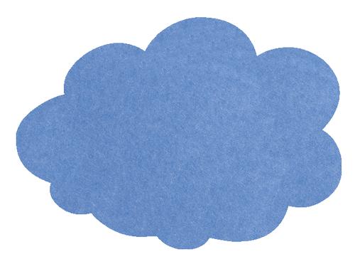 MagiShape 670 x 480mm Cloud Notice Board Light Blue LPNXCLD67LBL