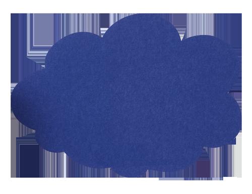 MagiShape 670 x 480mm Cloud Notice Board Mid Blue LPNXCLD67MBL