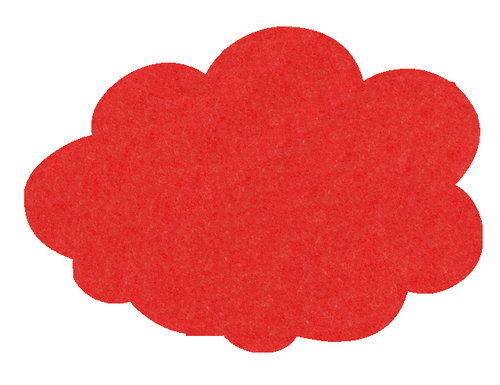 MagiShape 670 x 480mm Cloud Notice Board Red LPNXCLD67RED