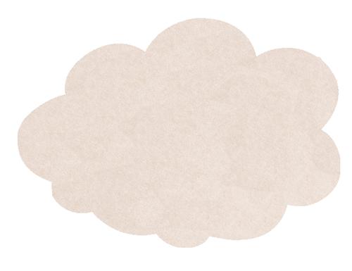 MagiShape 670 x 480mm Cloud Notice Board Stone LPNXCLD67STO