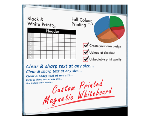 Custom Printed Magnetic Whiteboard (Dye Sublimation) 900x600 (Sketch or Artwork Required)