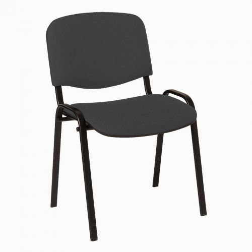 4 Legged Black Frame Stacking Chair Charcoal