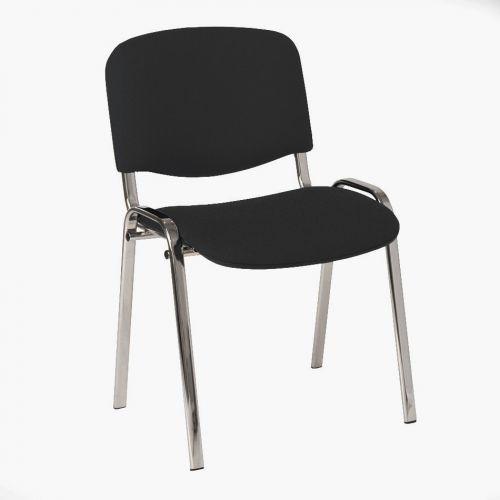 4 Legged Chrome Frame Stacking Chair Charcoal