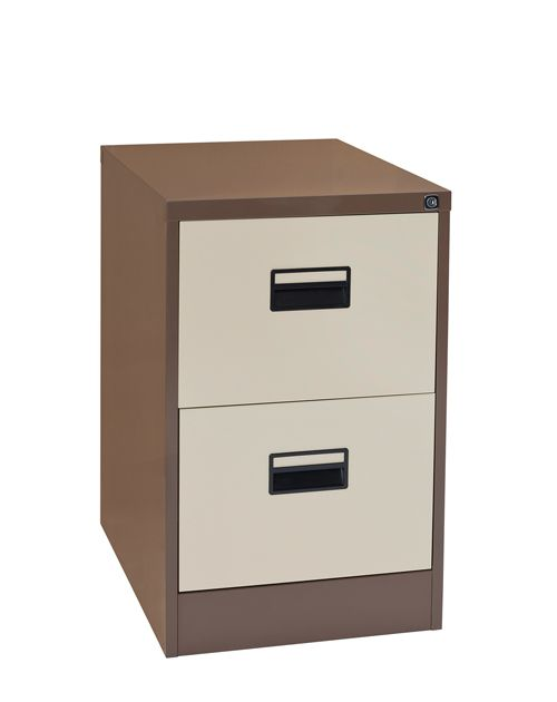 Contract 2 Drawer Filing Cabinet 730H X 460W X 620D Coffee/Cream