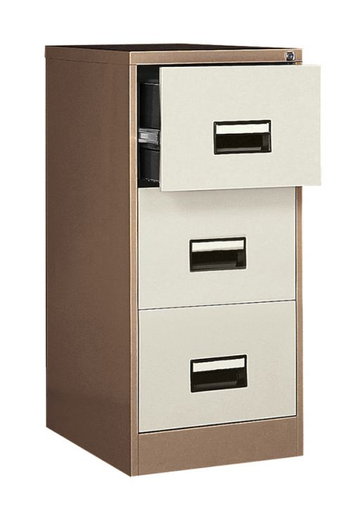 Contract 3 Drawer Filing Cabinet 1024H X 460W X 620D Coffee/Cream