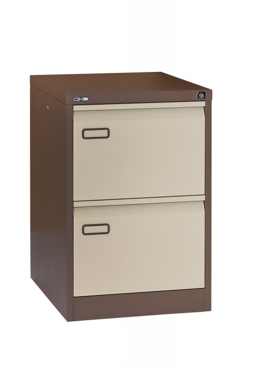 Mainline 2 Drawer Filing Cabinet 705H X 460W X 620D Grey Coffee/Cream