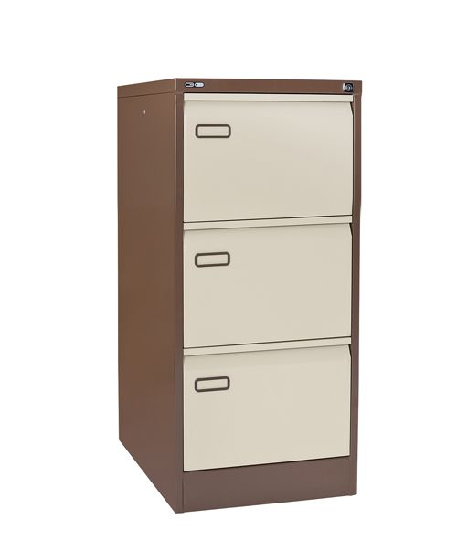 Mainline 3 Drawer Filing Cabinet 1016H X 460W X 620D Coffee/Cream