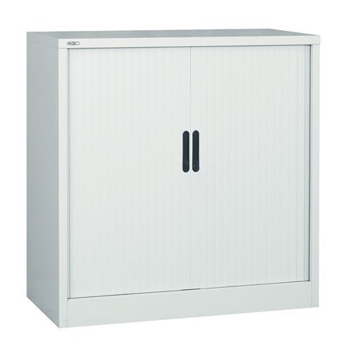 Side Opening Tambour Unit Supplied Empty 1016H X 1000W X 486D Grey