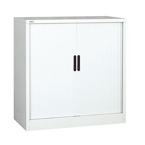 Side Opening Tambour Unit SUPPLIED EMPTY 1016H X 1000W X 486D White