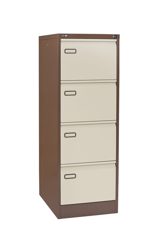 Mainline 4 Drawer Filing Cabinet 1321H X 460W X 620D Coffee/Cream