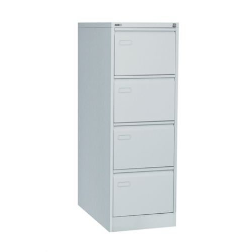 Mainline 4 Drawer Filing Cabinet 1321H X 460W X 620D Grey