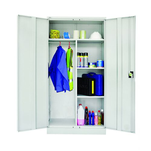 Janitor Double Door Cupboard 1829H X 914W X 457D Grey