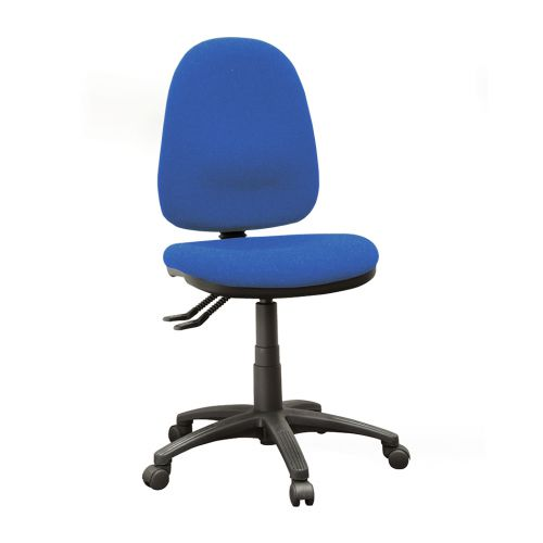 Operator Seating High Back Chair With No Arms Cobalt AD004 Fabric