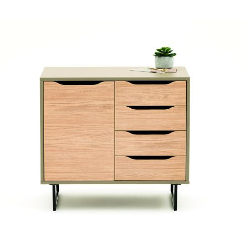 W800 x D500 x H730mm single 4 drawers  home-office sideboard unit