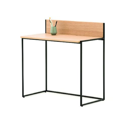W900 x D500mm desk with upstand, steel powder-coated frame.