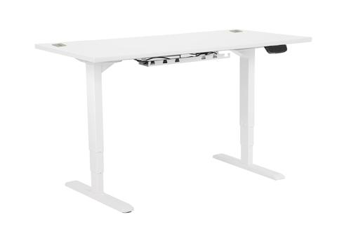 Electric Height Adjustable Desk Frame White, With Desktop 1200W X 800D White