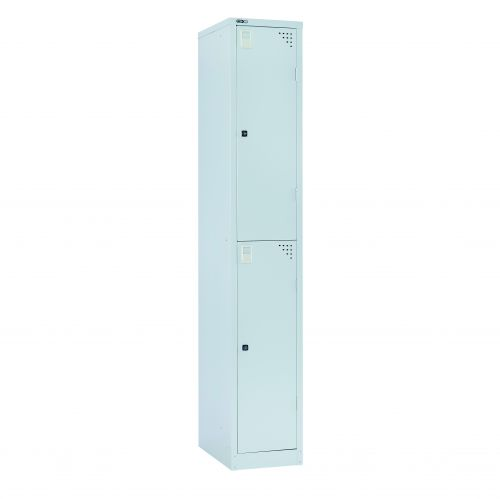 2 Door Locker 1778H X 305W X 457D Grey With Key Lock