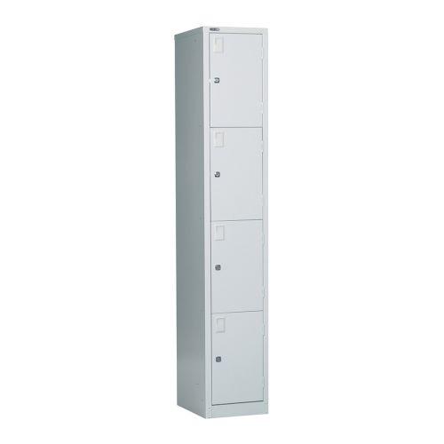 4 Door Locker, 1778H X 305W X 457D, Grey, Key Lock