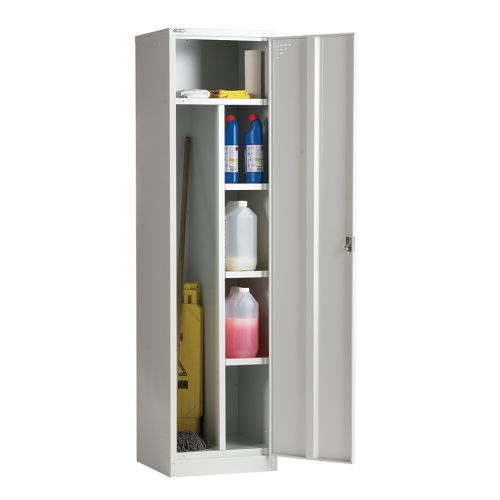 Janitor Single Door Locker, 1778H X 457W X 457D, Grey, Key Lock