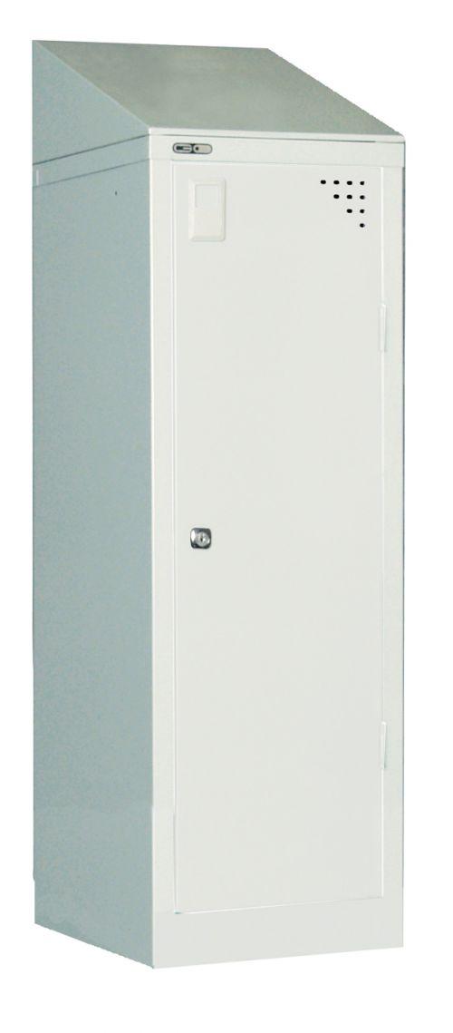 Single Sloping Top Grey - locker to be ordered separately