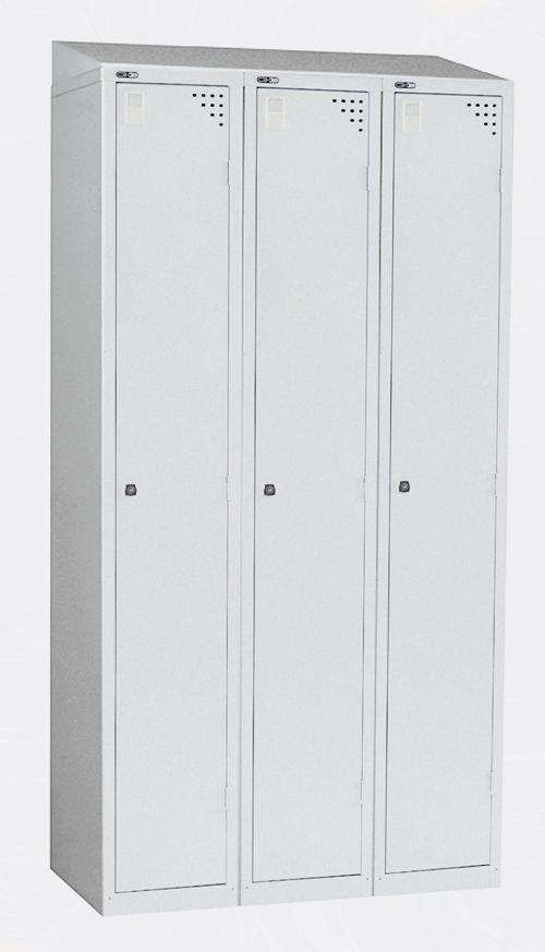 Triple Sloping Top Grey - locker to be ordered separately