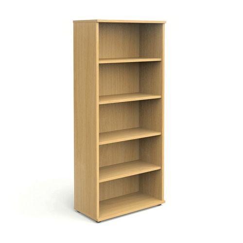 Open Bookcase 2000h X 800w Beech