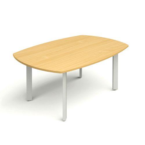 D-End Meeting Table 1800w X 1200d Beech