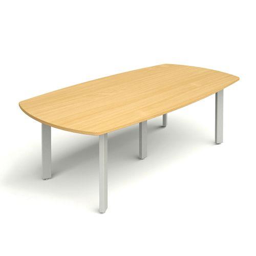 D-End Meeting Table 2400w X 1200d Beech