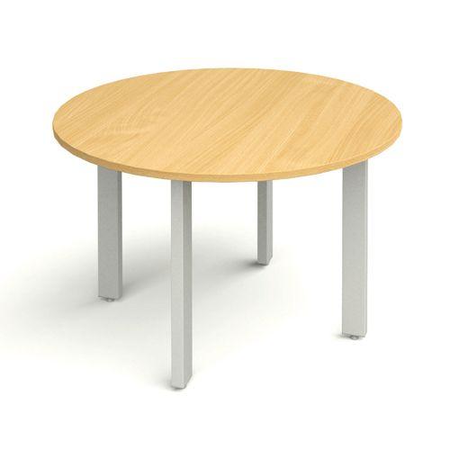Round Meeting Table 1000 diameter Beech