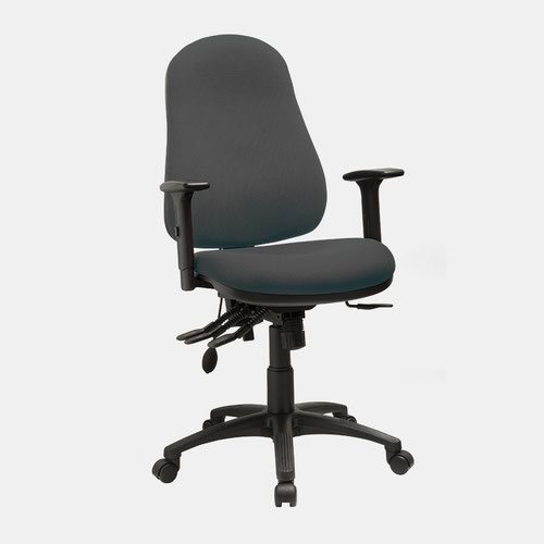 Comfort High Back Task Chair With Height Adjustable Arms, Havana YP009 Fabric