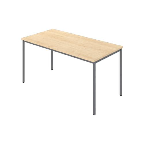 Rectangular Table, 1200W X 800D X 740H, 25mm Top In Beech With Silver Legs