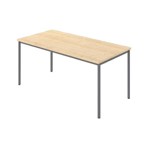 Rectangular Table, 1800W X 800D X 740H, 25mm Top In Beech With Silver Legs