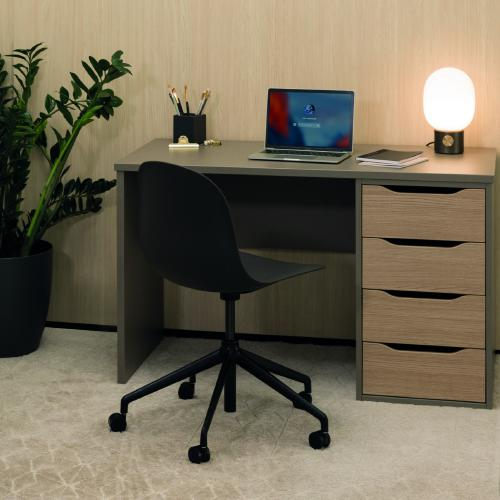 W1200 x D600mm work from home desk with 4 drawers unit, all MFC finish