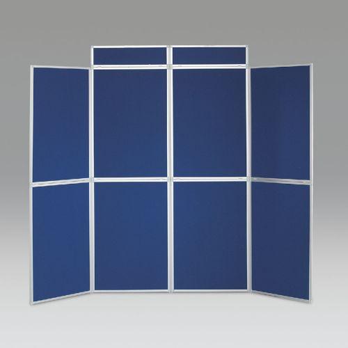 BusyFold Heavy Duty Aluminium Framed Folding Display - 8 Panel Kit with Headers & Bag - Royal Blue