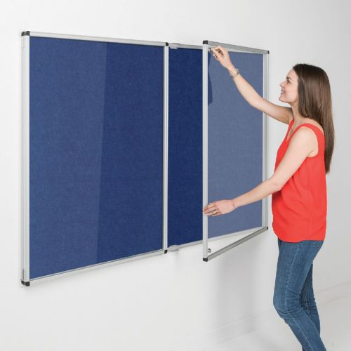 Eco-Colour Tamperproof Resist-a-Flame Noticeboards - 1200 x 1800mm - Blue