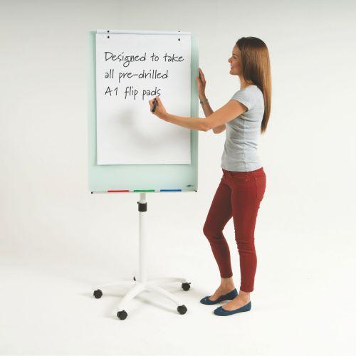 WriteOn Glass Magnetic Flipchart Easel