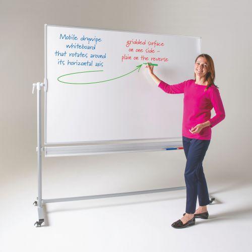 Metroplan Write-on dual faced whiteboard 1200mm x 2400mm