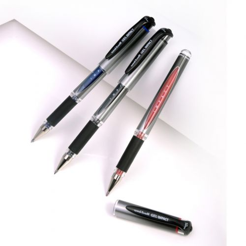 Uni-Ball Signo Gel Grip Rollerball Pen Red (Pack of 12) 9003952 Ballpoint & Rollerball Pens MI92896